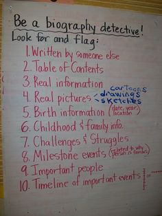 Biography Detective: Great idea. Would be awesome as a webquest.