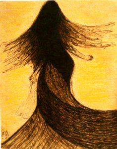 A beautiful painting by Rabindranath Tagore