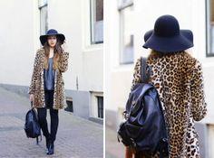 ombre, leopard, floppy hat, blogger, outfit, fashionblogger, zara leopard coat