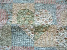 Heart Quilt - Love the delicate colors