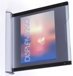 8.5 x 11 Sign Holder with 2 Slide-Out Transparent Lenses, Wall Mount – Black & Gray