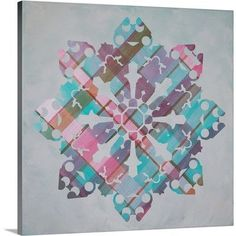 Canvas On Demand Christmas Art 'Plaid Snowflake Wonderland II' by Inner Circle Graphic Art on Wrapped Canvas Size: