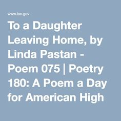 To a daughter leaving home analysis of the poem