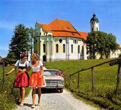 Opel Kadett at the Wieskirche 1970 Opel calender - Wieskirche, Bavaria