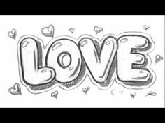How to Draw Love in Bubble Letters - Write Love in Graffit Letters - YouTube