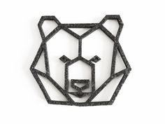 57 Ideas For Origami Tattoo Bear Geometric Animal Origami Tattoo, Geometric Bear Tattoo, Geometric Drawing, Geometric Shapes, Geometric Animal, Geometric Flower, Origami Simple, Felt Coasters, Bar Coasters