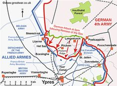 German advances on day one of the Second Battle of Ypres.Source