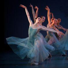 Royal Danish Ballet corps in Balanchine's Serenade  Photo by David Amzallag