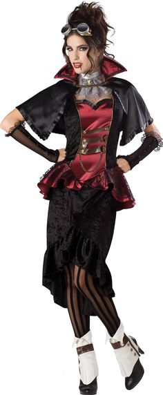 Amazon.com: InCharacter Costumes, LLC Steampunk Vampiress: Adult Sized Costumes: Clothing