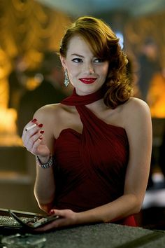 """Emma Stone in """"Gangster Squad"""" - the 50´s"""