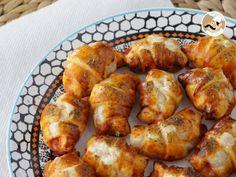 Receita Aperitivo : Mini croissants pizza de queijo e fiambre de PetitChef_PT
