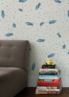 Astrobots Robot Wallpaper | Aimee Wilder >> This is wonderful, so full of whimsy, perfect for a kid friendly space!