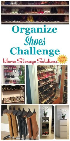 Here are step by step instructions for how to organize shoes and boots for both adults and kids, including in both the bedroom and in the entryway {part of the 52 Week Organized Home Challenge on Home Storage Solutions 101} #OrganizeShoes #ShoeOrganization #OrganizingShoes Boot Organization, Home Organization Hacks, Shoe Organizer, Wardrobe Organisation, Bedroom Organization, Organizers, Declutter Your Home, Organizing Your Home, Organizing Tips