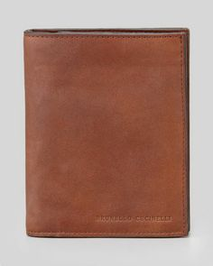 Large Leather Wallet, Cognac by Brunello Cucinelli at Neiman Marcus.