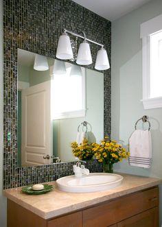 glass tiles bathroom