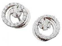 0.74 carat 14k white gold Diamond Motion Earrings by Teufel