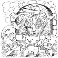 3 kismalac Three Little Pigs, Stories For Kids, Writing Skills, Colouring Pages, Nursery Rhymes, Story Time, Kids Learning, Fairy Tales, Cross Stitch