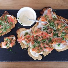 Brunch Piadina with Crème Fraîche, Smoked Salmon, lemon juice and…