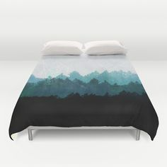 Woods Abstract  Duvet Cover by Mareike Böhmer Graphics - $99.00