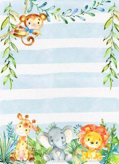 Baby Shower Boy Invitations Invitaciones 42 Ideas For 2019 –. Baby Shower Boy Invitations Invitaciones 42 Ideas For 2019 –…, Printable Baby Shower Invitations, Baby Shower Printables, Baby Shower Themes, Baby Shower Decorations, Shower Ideas, Shower Baby, Baby Shower Safari, Invitation Birthday, Baby Invitations