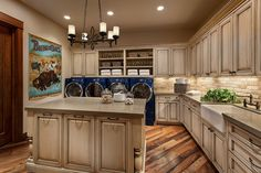 Southwest Style Laundry Room