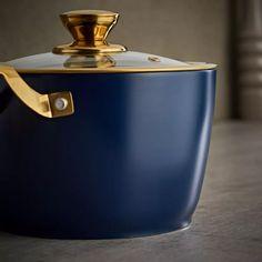 Buy Tower 5 Piece Ceramic Non Stick Pan Set - Blue and Gold   Pan sets   Argos Black Toaster, Ceramic Non Stick, Pan Set, Non Stick Pan, Argos, Healthy Cooking, Hand Washing, Barware, Tower