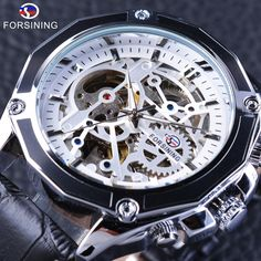 >>>Up to 80% Discount<<< Forsining Mechanical Watches with Automatic Self-winding Movement Waterproof Design Sport Men's Watches Genuine Leather Strap – 24hr.Watch