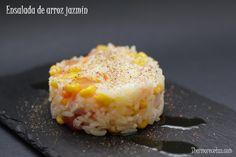 Ensalada arroz jazmin Ensalada de arroz jazmín