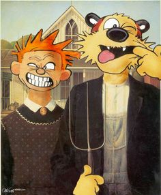 American Gothic: Calvin &Hobbes by Nixon83