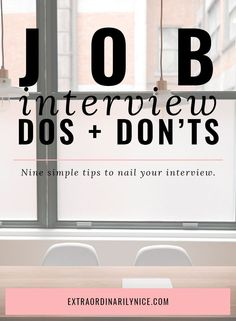 The Hiring Manager shares dos and don'ts of a job interview. Interview tips, tricks, etiquette. Job interviewing questions.