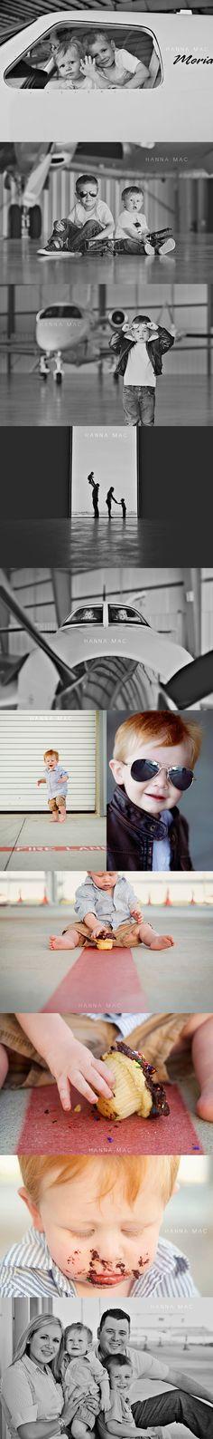 Airplane themed photoshoot » HANNA MAC