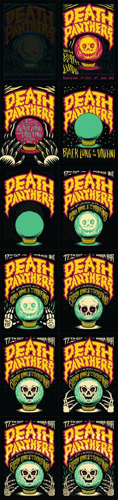 Death Panthers Poster on Behance by Ian Jepson