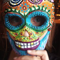acrylic on paper painted mask--Gianna models