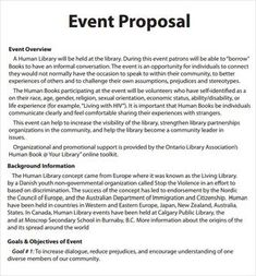 Event Planning Proposal Template | Event Proposal Template ...