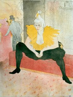 Henri de Toulouse-Lautrec (French, 1864 – 1901) | Elles: The Seated Clowness, Miss Cha-u-Kao (La Clownesse assise; Mademoiselle Cha-u-Kao) | 1896 | Crayon, brush, and spatter lithograph on laid Japanese paper | 20 7/8 x 15 7/8 inches | Gift of Irene and Howard Stein | 2001.13 c V