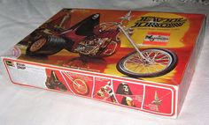 1971 Revell Evil Iron Chopper Trike Motorcycle Model Kit Unstarted 100 for sale online Plastic Model Kits, Plastic Models, Hobby Kits, Box Art, Chopper, Knight, Scale, Iron, Motorcycle
