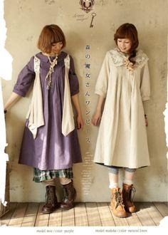 Japanyumiworld: Maybe I'm a mori girl. Mori Girl Fashion, Cute Fashion, Moda Harajuku, Mori Mode, Forest Fashion, Forest Girl, Moda Vintage, Girl Inspiration, Japanese Street Fashion