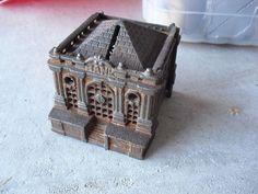 Antique Cast Iron Bank Building Bank