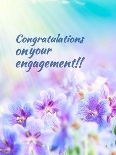 Congratulations on your engagement greeting card flo pinterest congratulations on your engagement m4hsunfo