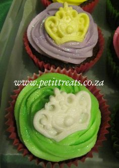Princess themed cup cakes