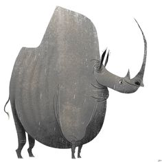 A friendly giant. . . . #characterdesign #artistsofinstagram #instaart #animation #drawing #art #sketch #design #stylized #visdev #caricature #cartoon #digitalart #illustration #wildlife #painting #rhinoceros