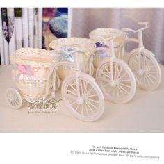 Beautiful  bike round baskets rattan  flower vase flowerpots-3pcs(3 kind of color mixed) #Affiliate