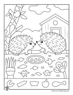 Printable Fall Hidden Pictures for Kids Creative Activities For Kids, Fun Activities, German Language Learning, Spanish Language, French Language, Kids Math Worksheets, Hidden Pictures, Hidden Objects, Art Drawings For Kids