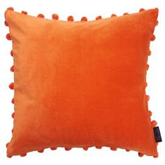 Just take a peek at our stunning new Arabella Orange Velvet Pom Pom Cushion and we're sure that you'll want one in your home! - 100% cotton velvet pile - Zipper fastening - Fire retardant poly fill inner pad - Size 50cm x 50cm (20 inches square) - Dry clean only - Not suitable for machine wash - Matching items available