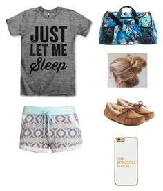 """Sleepover Outfit"" by heyitsizzy22 on Polyvore featuring P.J. Salvage, Vera Bradley, UGG Australia and BaubleBar"