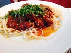 ITALIAANS STOOFVLEES Spaghetti, Ethnic Recipes, Food, Essen, Meals, Yemek, Noodle, Eten