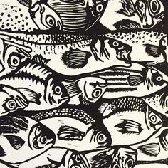 #bickelgrafik#vasco#illustration#design#graphic#lino#linocut#typo#artwork#printmaking#print#linocut#food#foodillustration#fih#fisheyes