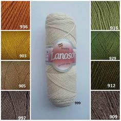 300m 51/% acrylic LANOSO Bonito Yarn 49/% wool 100g
