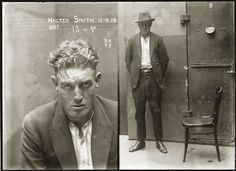 """Vintage Glass Plate Negative Mugshots From the 1920s. These picturesarepart of a series of around 2500 """"special photographs"""" taken by New South Wales Police Department between 1910 and 1930. More here http://anthonylukephotography.blogspot.com/2011/06/vintage-glass-plate-negative-mugshots.html"""