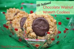 Old-Fashioned Chocolate Walnut Wreath Cookies Recipe -- Brown-Eyed Susans